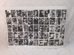 Beatles Uncut Trading Cards Cardboard Poster Photograph Collage 60s Vtg