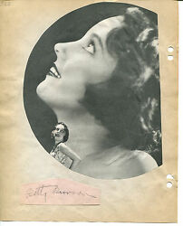 Betty Bronson And Andy Clyde Signed Vintage 8x10 Album Page W/photo Peter Pan Jsa
