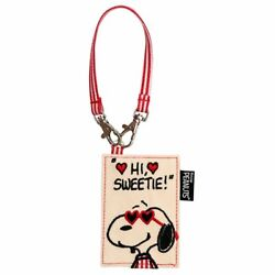 Snoopy Heart Glass Badge Holders / Pass Case Xmas Gift