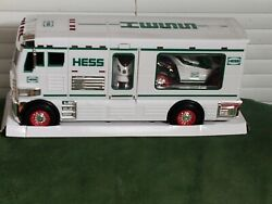 Vintage Hess Toy Trucks White And Green New In Box