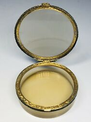 Antique 18th/19th Century European Gold And Silver Agate Round Snuff Box 2