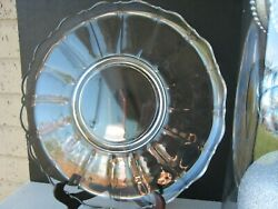 Cambridge Glass Portia Footed Large Rolled Edge Torte Cake Plate 14 1/4 Clear