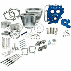 Sands Chain Drive Silver 110 Big Bore Power Package Kit Harley Twin Cam 2007-2017