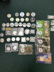 43 Fine Silver Coins All 1 Ounce Except 1