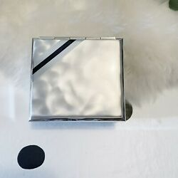 Wmf For Ikora Art Deco Silver Plate Decorative Box With Black Enamel Accent