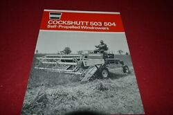 Cockshutt Oliver Tractor 503 504 Self Propelled Windrowers Brochure Fcca
