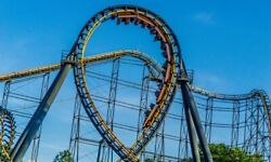 Kings Island The Vortex Rollercoaster Going Up Side Down Art Photography Print