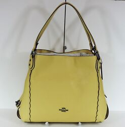 New Coach Edie 31 Shoulder Leather 29800 sunflower gold bag Scalloped embroidery $269.99