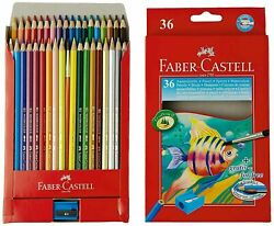 Faber-castell Design Series Aquarelle Water Color Pencils 36 Shades Free Ship