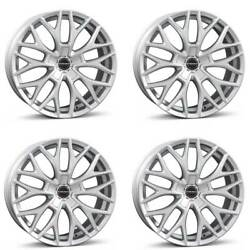 4 Borbet Wheels Dy 8.5x20 Et40 5x108 Sil For Land Rover Discovery Freelander Evo