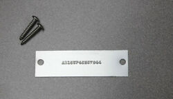 New Embossed Serial Number Data Plate Id Tag Vin Number Trailer Engine Equipment