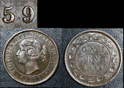 Nice Varieties - Large Cent - 1859 Double Punched 9/9 J5a - Ef+ C519