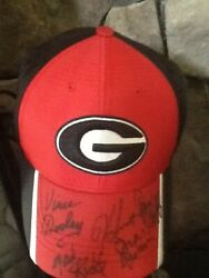 Uga Hat Signed By Every Uga Coach Since Dooley Dooley Goff Donnan Richt And Smart