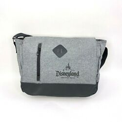 Disneyland Parks Crossbody Over the Shoulder Commuter Bag Grey Canvas Disney $17.99