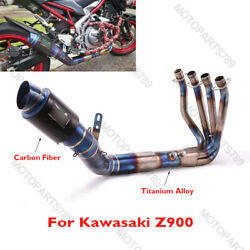 Motorcycle Exhaust Muffler System Tip Connector Slip On Pipe For Kawasaki Z900