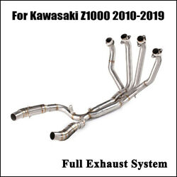 Motorcycle Exhaust System Header Connector Section For Kawasaki Z1000 2010-2020