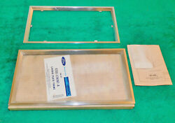67-71 Ford Mercury Lincoln Nos Deluxe Accessory Front Rear License Plate Frames