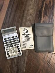 Rare Vintage Texas Instruments Ti-56 Calculator French-english Quick Guide