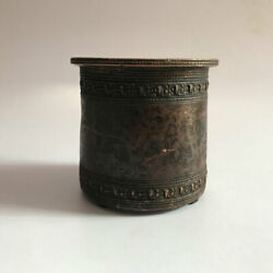 Copper Holy Water Pot Panchpatra Old Hindu Traditional Ritual Temple Use