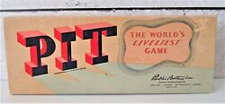 Vintage 1947 Pit Parker Brothers Card Game Bear And Bull Edition Manuals