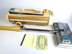 Vintage Electrolux 50th Jubilee Model 1205 Gold Canister Vacuum W Power Nozzle