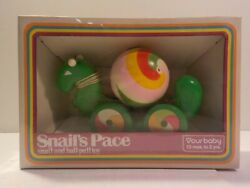 N Vintage 1970s Playskool Prototype Mock Up Snail's Pace Ball Pull Toy Baby