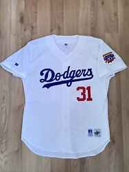 Mike Piazza 1997 La Dodgers Russell Athletic Mlb Baseball Authentic Jersey 48 Xl