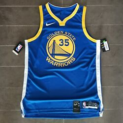 Kevin Durant Golden State Warriors Authentic Nba Basketball Jersey Size 48 Bwnt