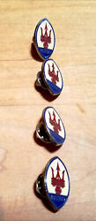 Maserati Vintage Lapel Pins, Nos. Four 4 Very Rare And Hard To Find.