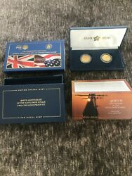 400th Anniversary Of The Mayflower Voyage Two-coin Gold Proof Set 20xa 10 £25