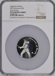Legends Of Music 2019 Elvis Presley 1oz Silver Coin Ngc Ms70 Ultra Cameo