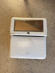 Vintage Streamliner Service Station Rolling Hand Towel Cabinet W/ Mirror And Key