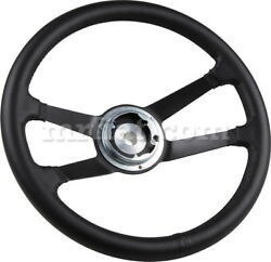 For Porsche 911 912 914 Black Leather Steering Wheel Early New