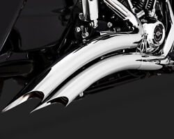 Vance And Hines Big Radius 2 Into 2 Exhaust Chrome For Harley Road Glide 2017-2019