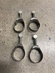Lot Of 4 Vintage Garrett Thumb Screw Tower Hose Clamps An737 Rm48 Dated 1/53