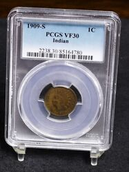 1909-s Indian Cent - Pcgs Vf30 33920