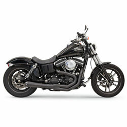 Bassani Road Rage Ii Mega Power 1d32rb Exhaust Black For Harley 91-17 Dyna 2 In