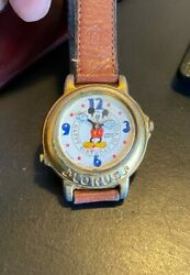 Vtg Womenand039s 34mm Lorus Watch Mickey Mouse Plays Happy Birthdayv421-0200