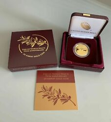 ,end Of World War 11 75th Anniversary 24 - Karat Gold Coin Only Mintage 7,500