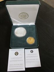 2003 Age Of Discovery Series Captain Cook Gold/silver Set 10 Grams .9999 Gold