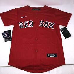 Nike Mookie Betts MLB Boston Red Sox Red Jersey Boys Large