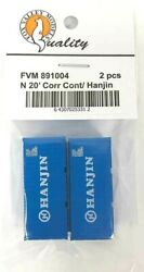 N Scale Fox Valley Models 891004 20' Hanjin Corrugated Container 2 Pack