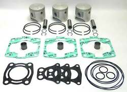 Top End Piston Rebuild Kit .5mm Over 81.5mm Polaris Sl 1050 1997