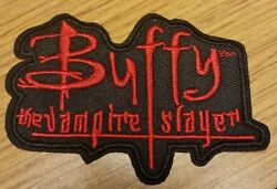 Buffy The Vampire Slayer Black And Red Logo Costume Patch 3 1/4 Inches Wide