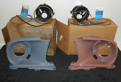 1967 1968 Mustang Fastback Coupe Gt A Conv Nos Lh+rh Head Lamp Fender Extensions