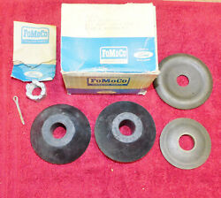 1965-1971 Ford Mercury Nos Front Suspension Lower Arm Bushing And Washer Kit
