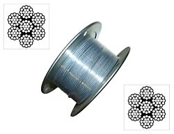 Stainless Cable Railing Type 304 Steel Aircraft Wire Rope 3/167x19 Coil Reel