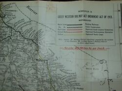 Great Western Railway Act Amendment Act Of 1913 Queensland Government 1916 Map.