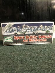 2004 Hess 40th Anniversary Truck Sport Utility Vehicle And Motorcycles Suv New