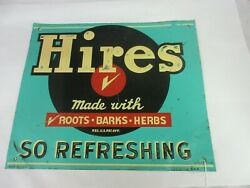 Vintage Advertising Hires Root Beer Tin Sign Store Soda Counter Display M-598
